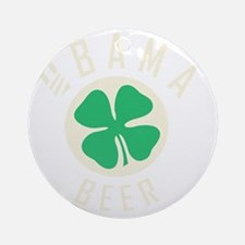 Obama Beer Round Ornament