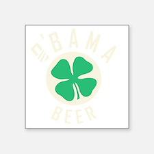 "Obama Beer Square Sticker 3"" x 3"""