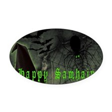 Happy Samhain Oval Car Magnet