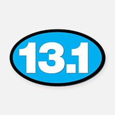 13.1 HALF MARATHON SHOP Oval Car Magnet