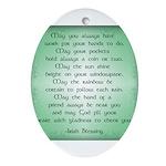 irish blessing Ornament (Oval)