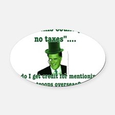 Romney and the 47% (vertical) Oval Car Magnet