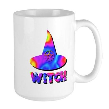 Cool Colors Witch Hat Large Mug
