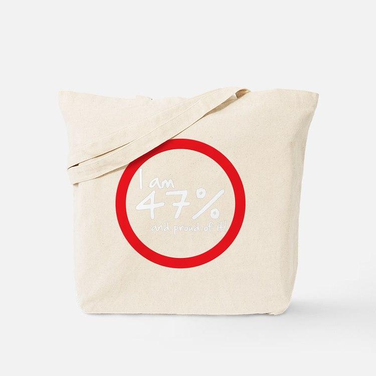 I am 47 percent Tote Bag