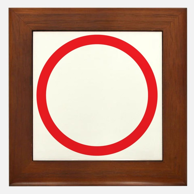 I am 47 percent Framed Tile