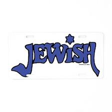 Jewish14x7Trans Aluminum License Plate