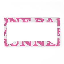 One Bad Mother Runner Pink License Plate Holder