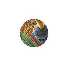 Silicon chip micro-wire, SEM Mini Button