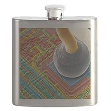 Silicon chip micro-wire, SEM Flask