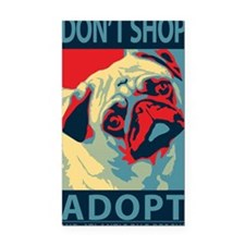 Dont Shop - Adopt Rectangle Car Magnet