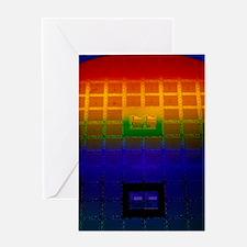 Silicon Sunrise, a Logic Array circu Greeting Card