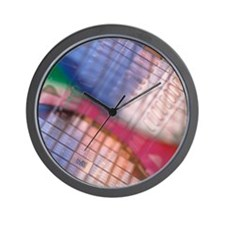Silicon wafers Wall Clock