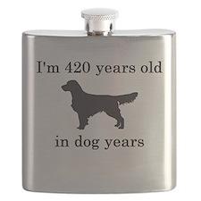 60 birthday dog years golden retriever Flask