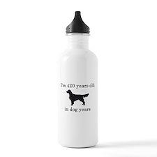 60 birthday dog years golden retriever Water Bottl