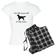 60 birthday dog years golden retriever Pajamas