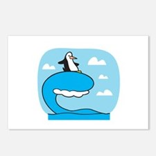 Silly Surfing Penguin Postcards (Package of 8)
