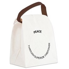 Superior Firepower wht Canvas Lunch Bag