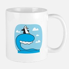 Silly Surfing Penguin Mug