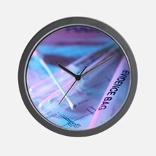 Forensic evidence Wall Clock
