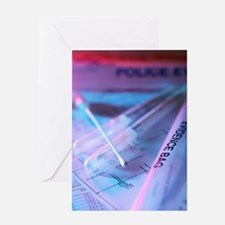 Forensic evidence Greeting Card