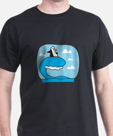 Silly Surfing Penguin T-Shirt