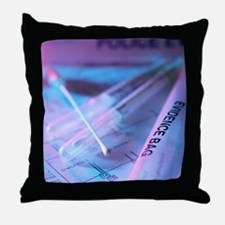 Forensic evidence Throw Pillow