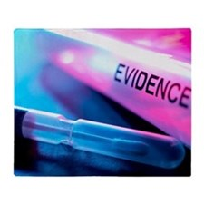 Forensic evidence Throw Blanket