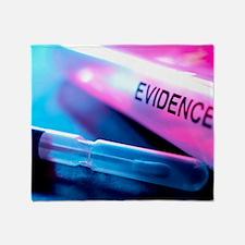 Forensic evidence Throw Blanket