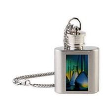 Selection of glassware used in chem Flask Necklace
