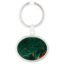 SEM of a cat flea Oval Keychain