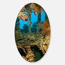 Shipwreck interior Sticker (Oval)