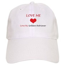 Love Me Love My Golden Retrie Baseball Cap