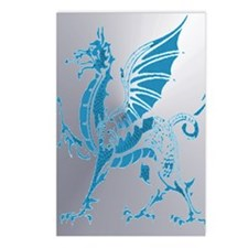 Blue And Silver Dragon Postcards (Package of 8)