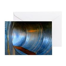 Inside of Pipe Greeting Card