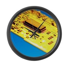 Silicon chip Large Wall Clock