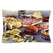 Fast food, computer artwork Pillow Case