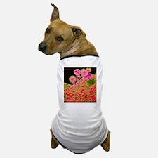 False-colour TEM of budding AIDS virus Dog T-Shirt