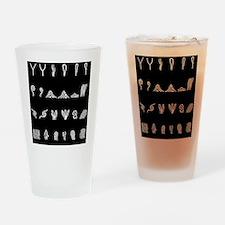 Features of fingerprints, artwork Drinking Glass