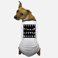 Features of fingerprints, artwork Dog T-Shirt