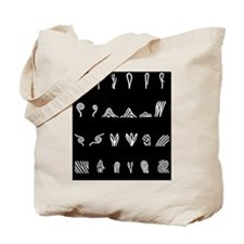 Features of fingerprints, artwork Tote Bag