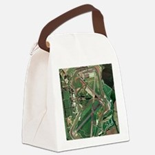 Silverstone race track, aerial im Canvas Lunch Bag