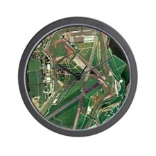 Silverstone race track, aerial image Wall Clock