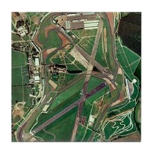 Silverstone race track, aerial image Tile Coaster