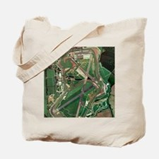 Silverstone race track, aerial image Tote Bag