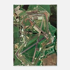Silverstone race track, aerial imag 5'x7'Area Rug