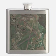 Silverstone race track, aerial image Flask