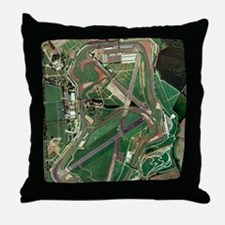 Silverstone race track, aerial image Throw Pillow