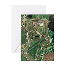 Silverstone race track, aerial image Greeting Card