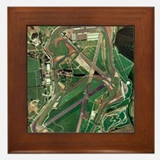 Silverstone race track, aerial image Framed Tile