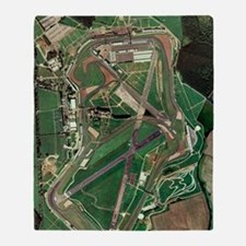 Silverstone race track, aerial image Throw Blanket